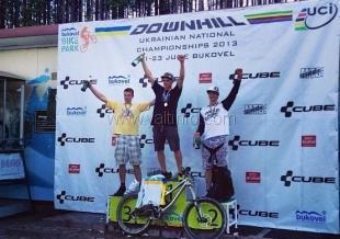 Наш райдер Валентин Попов — чемпион Украины по даунхиллу 2013 года