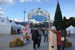 Впервые в Ялте с грандиозным размахом стартовали «Рождественские гуляния»