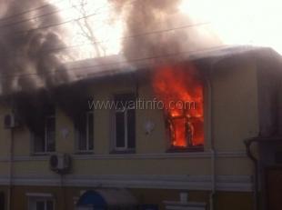 В здании полиции Ялты произошел пожар