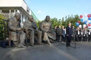 К 70-летию Ялтинской конференции в Ливадии открыли памятник «Большой тройке»