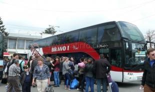 На маршрутах в Крыму заработали двухэтажные автобусы
