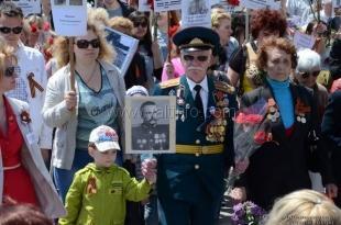 Участие в акции «Бессмертный полк» приняли более тысячи ялтинцев