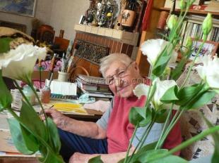 Известнейшей художнице Анне Петровне Олейник исполнился 91 год