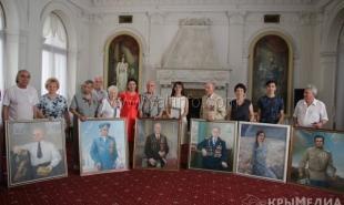 В Ливадийском дворце ветеранам войны вручили личные портреты