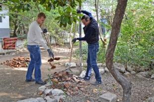 Ялтинская молодёжь провела субботник на территории Реабилитационного центра для детей и подростков с ограниченными возможностями