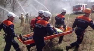 Крымские спасатели провели масштабные учения в Ялтинском заповеднике