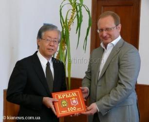Мэр Ялты встретился с Полномочным послом Японии в Украине