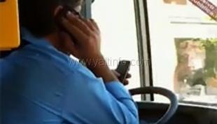 В Ялте ГАИ охотится на водителей автобусов с телефоном за рулем